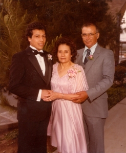 From left to right Cornelio, Emilia, and Nabor Preciado-1981