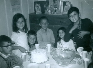 From left to right. Cousin Gilbert. Sister Eva. Unknown amigo. Friend Eddie. Cousin Eleanor. And the tallest one with the all the attitude-Toribio Preciado-11 years old. June 1966.