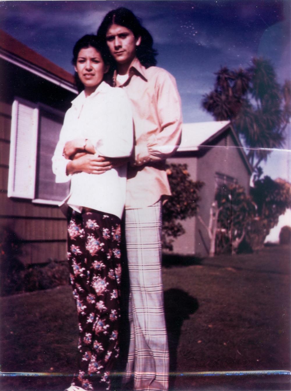 Toribio and Rose Preciado, proud parents of Josiah Preciado, just barely in there twenties.